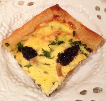 Puff pastry quiche