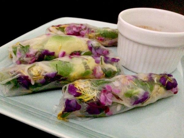 foraged summer rolls