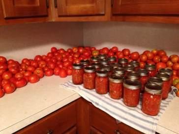 Canning salsa