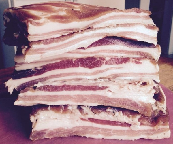 Slabs of bacon