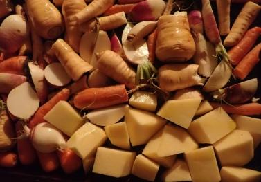 Roasting vegetables